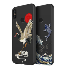 2019 Great Emboss Phone Case For Xiaomi Mi9 Mi 9 cover Kanagawa Waves Carp Cranes 3D Giant relief MI9 SE MI
