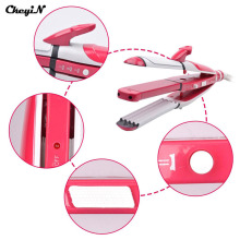 3in1 Ceramic Hair Straightening Irons + Electric Hair Curler Curling Iron + Corn plate Professional Styling Tool Flat Iron HS45