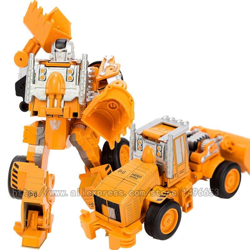Nuevo 5 en 1 de gran tamaño 28 CM juguetes de transformación de aleación de Metal destructor de coches Robot Combiner gancho excavadora de ingeniería camión chico regalo-in Figuras de juguete y acción from Juguetes y pasatiempos    2
