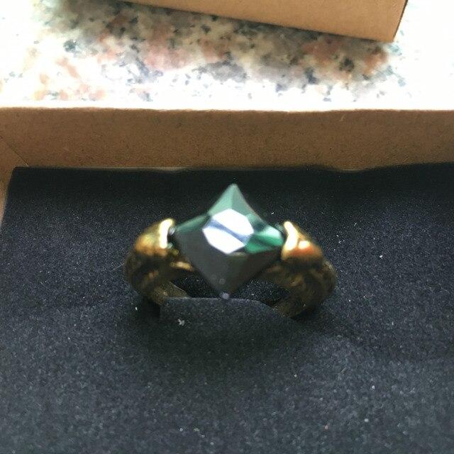 Hogwarts Cosplay Piedra Filosofal anillo Voldermor es horrocrux resurrección anillo de piedra Navidad Año nuevo regalo de Piedra Negro