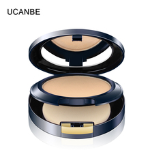 UCANBE Brand Face Musse Bouncing Pressed Powder Makeup Wet Dry Powder Base Nude Concealer & Silky Isolation Make Up With Puff