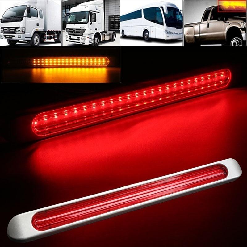 47 LED Trailer Truck Rear Tail Light Stop Brake Lamp Flowing Turn Signal Light Red 12V 24V Trailer Caravan Lorry Pickup RVs