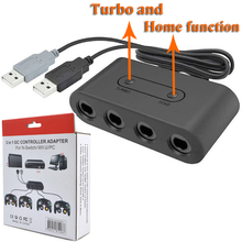 4 Port For GC GameCube Controller Converter Adapter For Nintend Wii U Switch PC USB Adapter With Home Turbo Function 2019