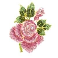Big Size Rhinestone Crystal Rose Flower Brooch Pin Broach Jewelry 02994