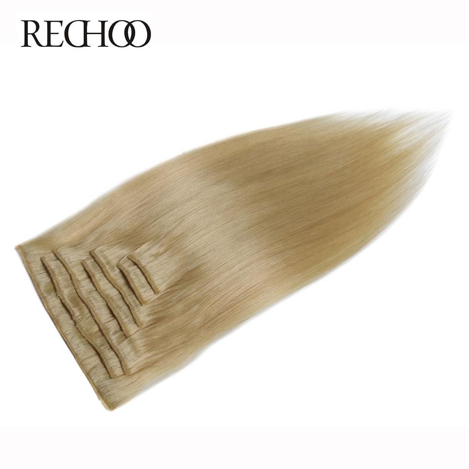 Rechoo rovný brazilský stroj vyrobený Remy 100% lidské vlasy - Lidské vlasy (pro bílé) - Fotografie 5