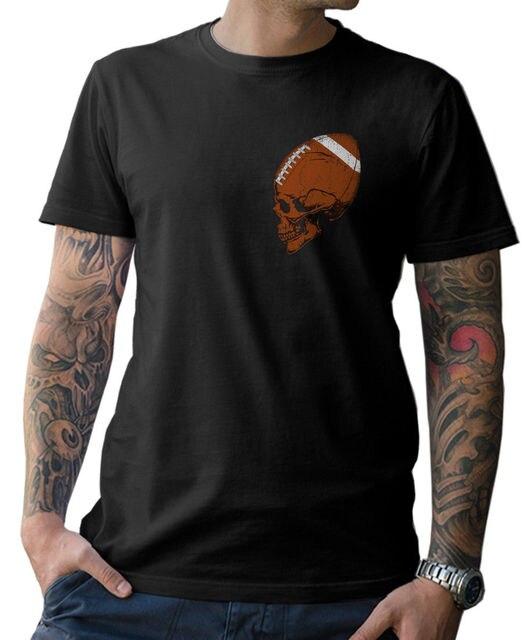 2018 Fashion Footballs Skull T-Shirt Skull American Old School FanShirt  S - 5XL Tee shirt 1