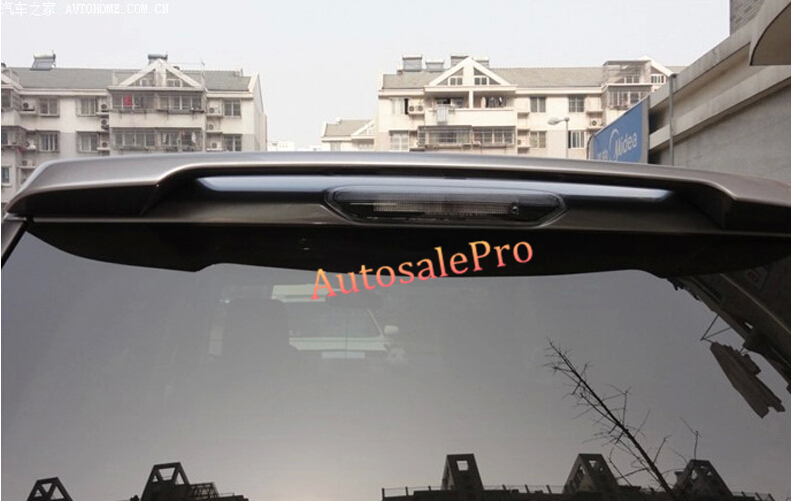 Unpainted Rear trunk roof Spoiler wing Decoration Pad Trim For Land Rover freelander 2 2008-2013 2014 2015 woobest abs rear wing rear trunk rear spoiler for toyota corolla altis 2014 2017 new design top quality