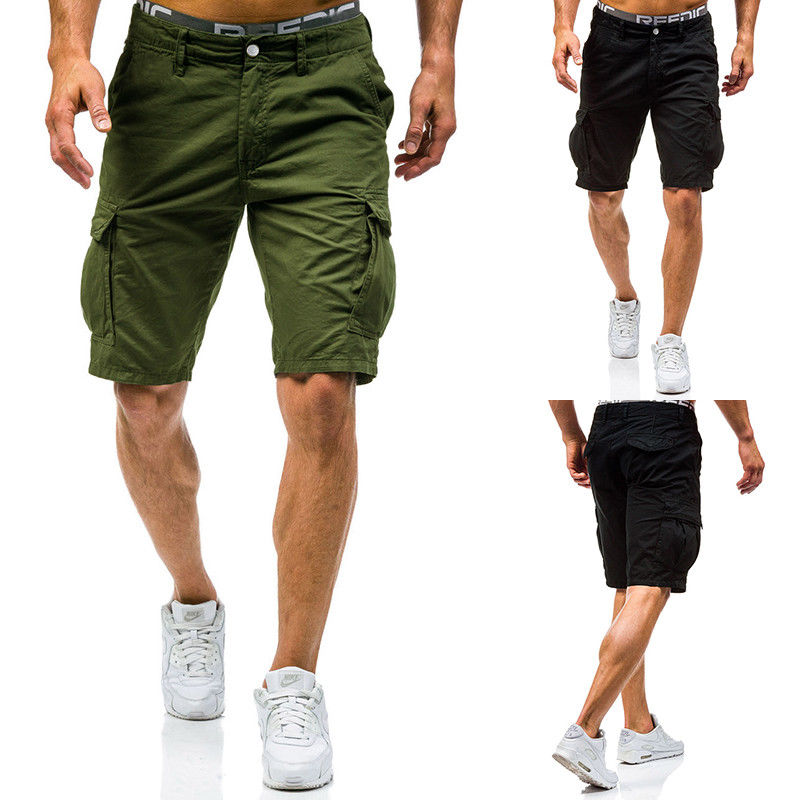 Mannen Casual Combat Broek Tactische Werk Pocket Camo Cargo Yu Multi-pocket Casual