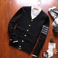 Phalinovic 2017 Classical Polo Cardigans Sweater Winter Autumn Man Fashion Long Sleeve Thin Knitwear Coat Plus Size M 3XL