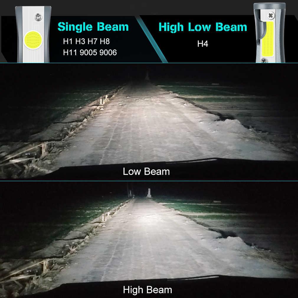 12000LM Car Headlight Bulbs Error Free H4 H7 H11 H1 H3 9005 9006 HB4 HB3 H27 LED Lamps 880 881 72W 6500K Auto Lights 12V 24V