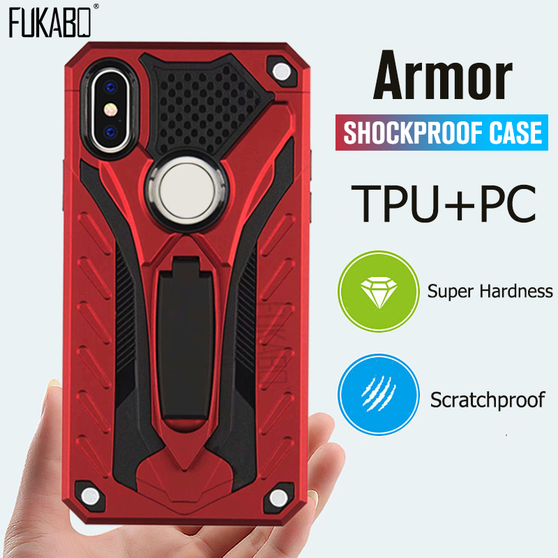 Luxury Armor Shockproof Case For Xiaomi Redmi Note 7 5 6 Pro Soft Silicone Bumper Cases For Redmi 4X 6A GO Full Protective Cover