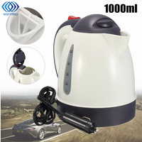 1000ML Car Hot Kettle Portable Water Heater Travel Auto 12V 24V For Tea Coffee 304 Stainless