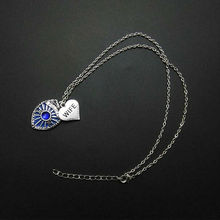 my shape Fashion Antique Police Mom Wife Sister Daughter Grandma Forever Family Heart With Police Badge Pendant Necklace