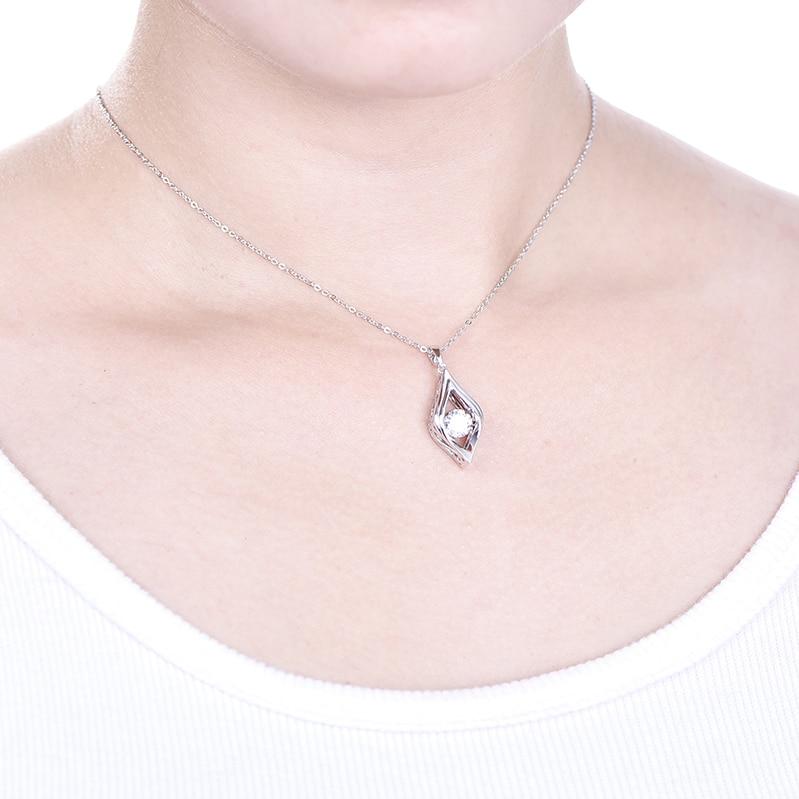 YL Tanzen Topaz Geometrische 925 Sterling Silber Anhänger Halskette ...