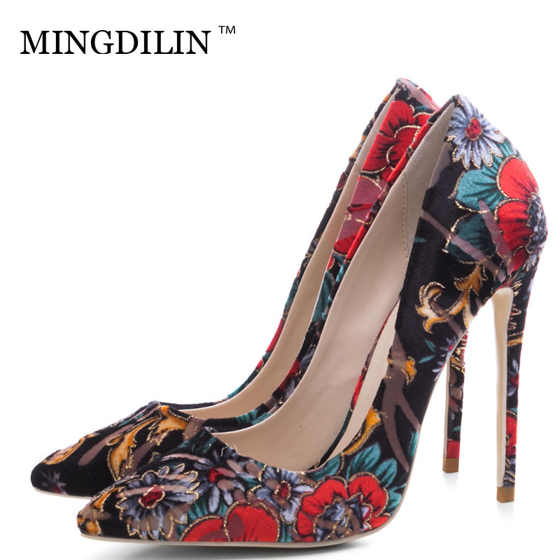MINGDILIN Sexy Women's High Heels Shoes Wedding Party Plus Size 33 43 Woman Bridal Shoes Red Pointed Toe Pumps Stiletto 2018 mingdilin sexy women s heel shoes high heels shoes woman pumps plus size 33 43 pointed toe ping red wedding party pumps stiletto