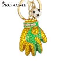 Pro Acme Personalized Football Gloves Key Chain Metal KeyChain Women Bag Charms Car Key Ring Key Holder Football Gift PWK0594