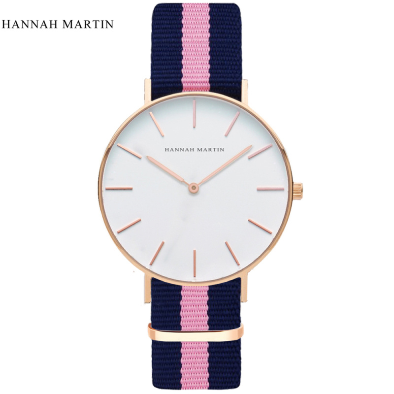 HANNAH MARTIN Fashion Nylon Casual Watch Women Female Clock Mens Top Brand Sport Watches Montre Femme Clock relogio feminino 2016 good top brand relogio feminino date day clock female stainless steel watch women relogio feminino montre femme jn7