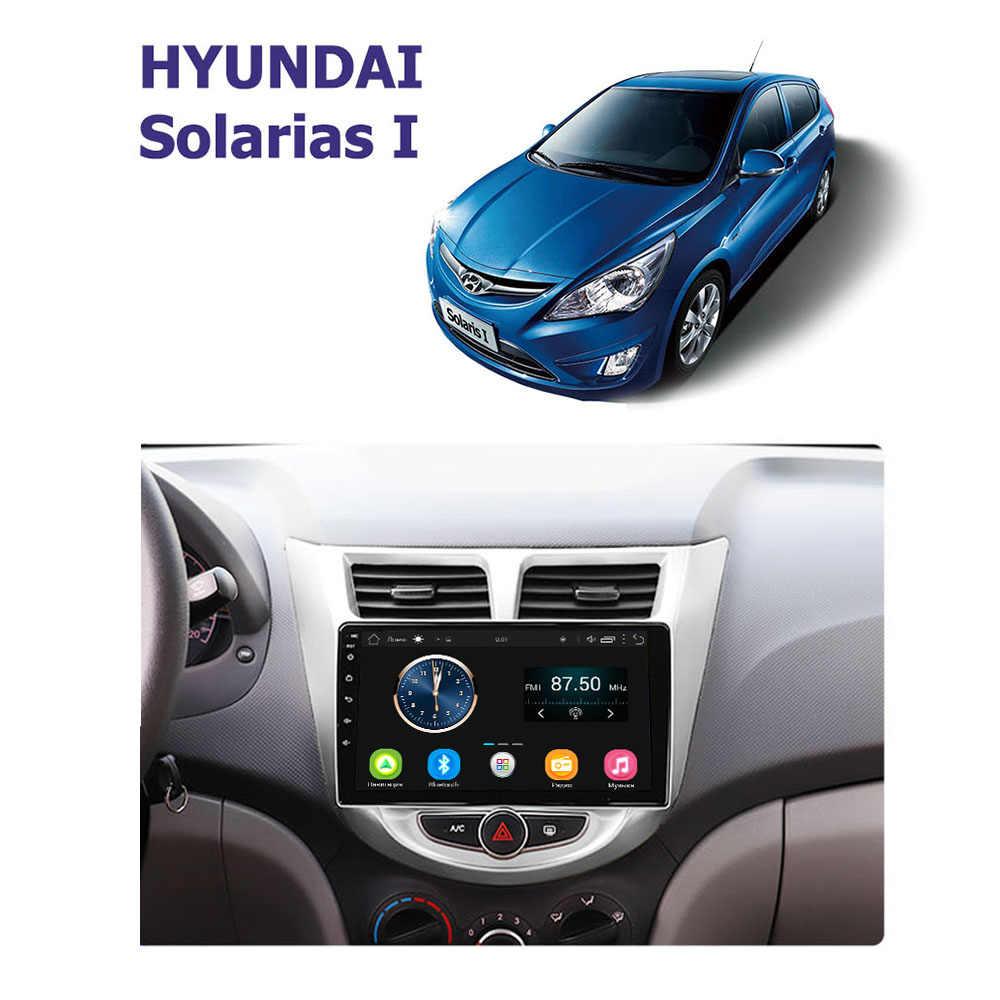 راديو السيارة الروبوت 8.1 سيارة فيديو مشغل وسائط متعددة ل هيونداي سولاريس فيرنا اكسنت 2011 2012 2013 2014 2015 2016 GPS والملاحة