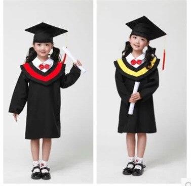 Детский сад dr бакалавра одежда Начальная школа Выпускной платье и костюм дети академический платье Бесплатная доставка 18