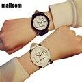 Malloom 2016 nova moda, amantes de relógios das mulheres dos homens marca de topo relógio de luxo de couro pu banda quartzo analógico relógio de pulso relogio
