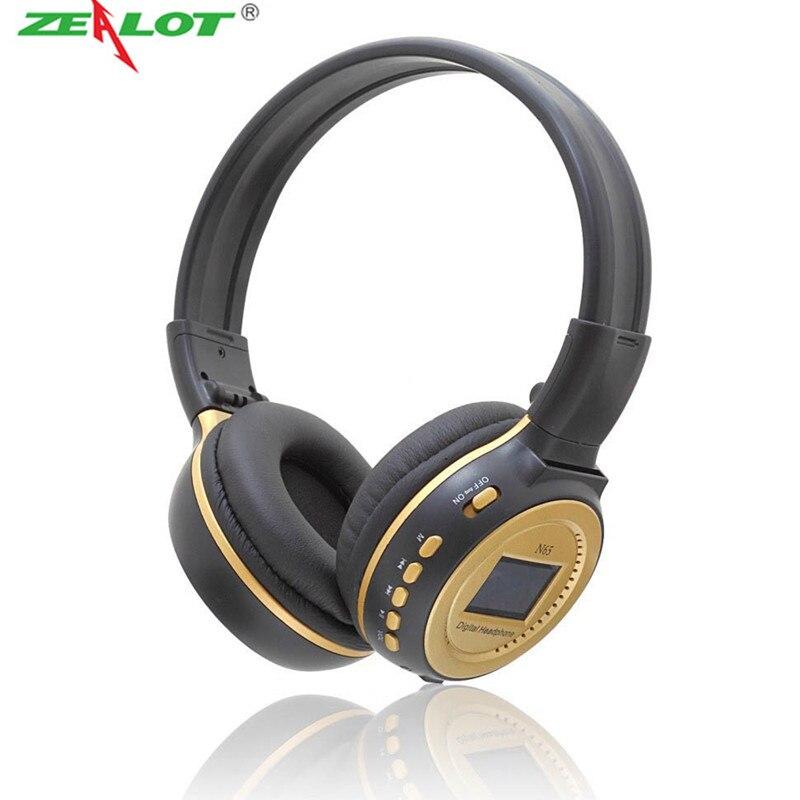 bilder für Zealot N65 ohrhörer Digitale Drahtlose Kopfhörer Stereo Auriculares Musik-player FM Radio Sd Card Slot LCD Earburd für Telefon MP3