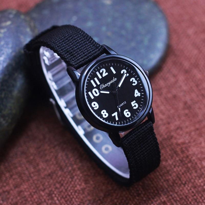 2018 Fashion Unisex Platimum Nylon Fabric Watch Sport Thin Students Canvas Quartz Dress Wristwatches For Boy Girl Casual Relogio