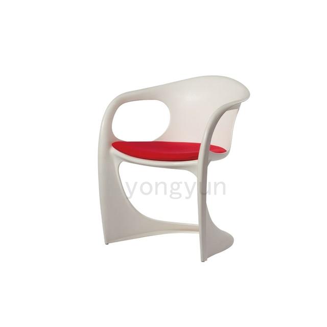Minimalistischen Modernen Design Kunststoff Esszimmerstuhl Möbel  Gepolsterte Stühle Weichen Sitz Kunststoff Stuhl Wohnmöbel Nur