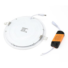 ICOCO Ultra-thin Round LED Recessed Ceiling Flat Panel Down Light Lamp with Driver Super Bright Lighting for Office/Home