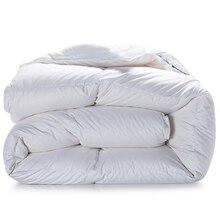 Svetanya зима гусиный пух одеяло ed king queen Твин Полный размеры кашне Doona белый хлопок постельные принадлежности наполнитель