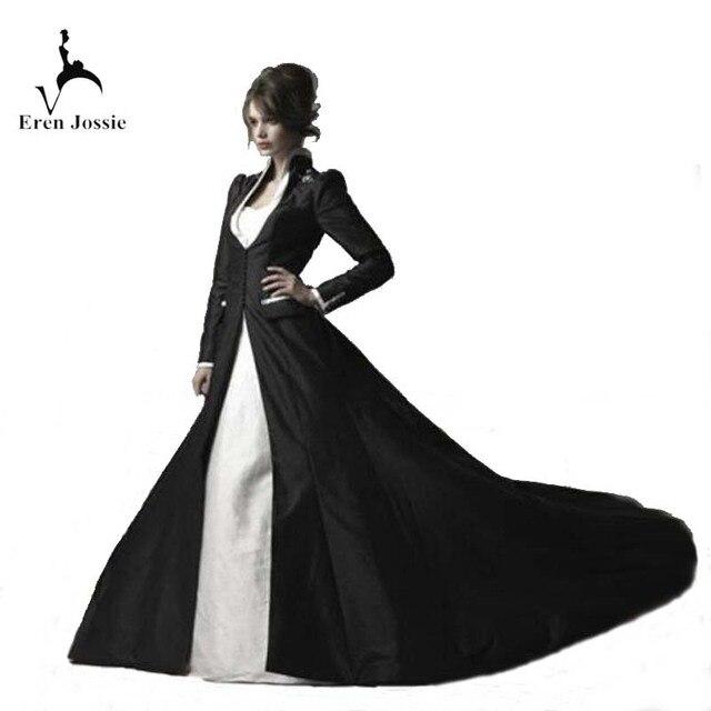 Design exclusivo Feito Sob Medida Mulheres Black Satin Casamento Nupcial Manga Comprida Manto Moda Capa de Boa Qualidade