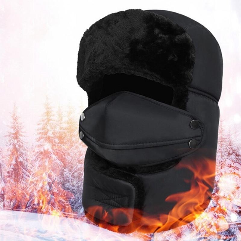 Winter Snow Trapper Bomber Aviator Russian Trooper Mask Warm Fur Ski Hat Cap Lot