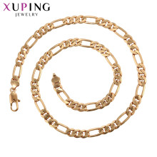 Xuping Luxury Men's Gold Plated Charm Dainty Layering แฟชั่น Vibes ยาวสร้อยคอ(China)