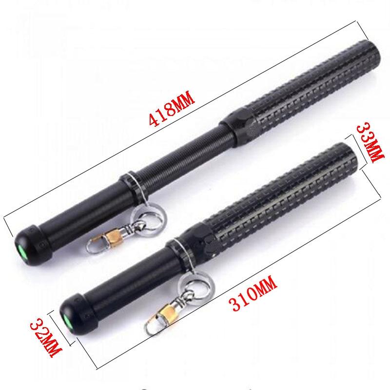 Bastón telescópico stick linterna LED cree Q5 2000LM Tactical LED linterna linternas autodefensa Baton impermeable lámpara