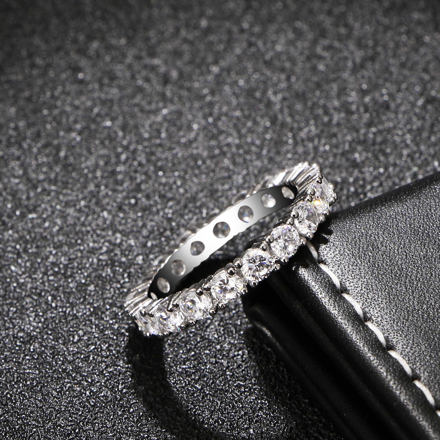 2017 เครื่องประดับแบรนด์หรูสีขาว Inlay Cubic Zirconia ที่ไม่ซ้ำรูปหมั้นแต่งงานขนาด