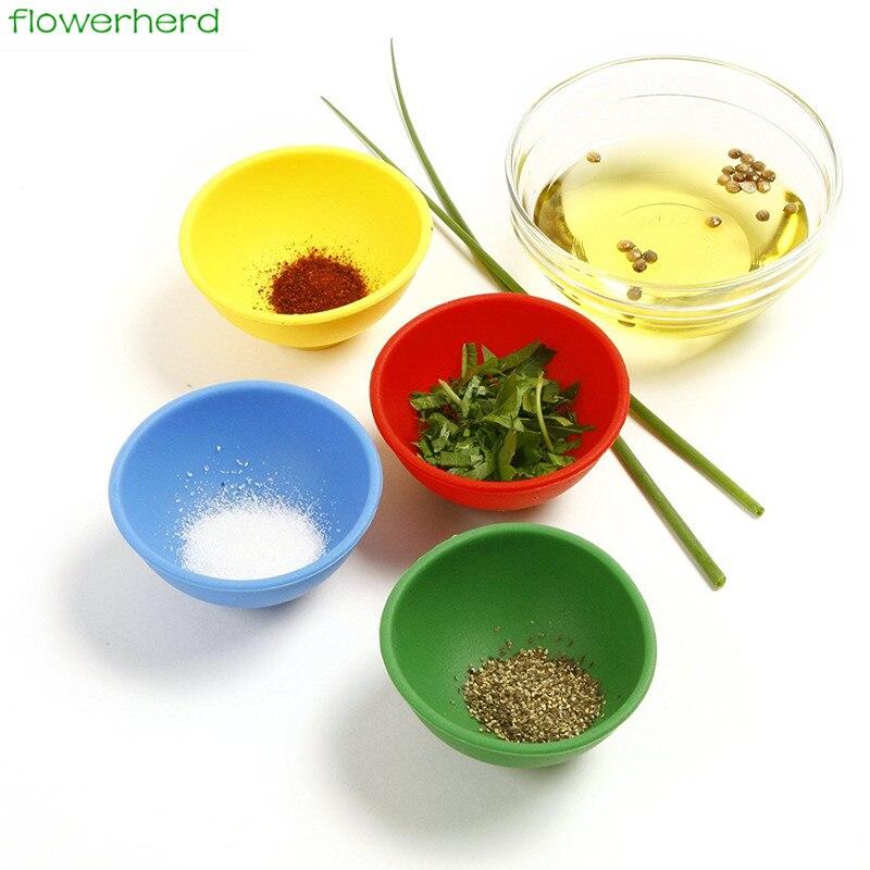 Mini Pinch Bowl Silicone Bowl For Salt Sauce Sugar Butter Cream Dressing Mayonnaise Salad Dinnerware Set Kitchen Tools