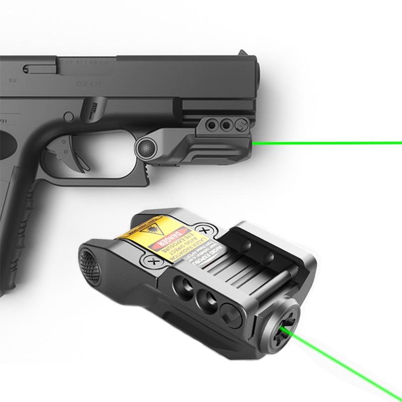 Laserspeed Drop shipping Subcompact Green Dot Laser Sight Pistol For Glock Springfield Handgun Laser Sight