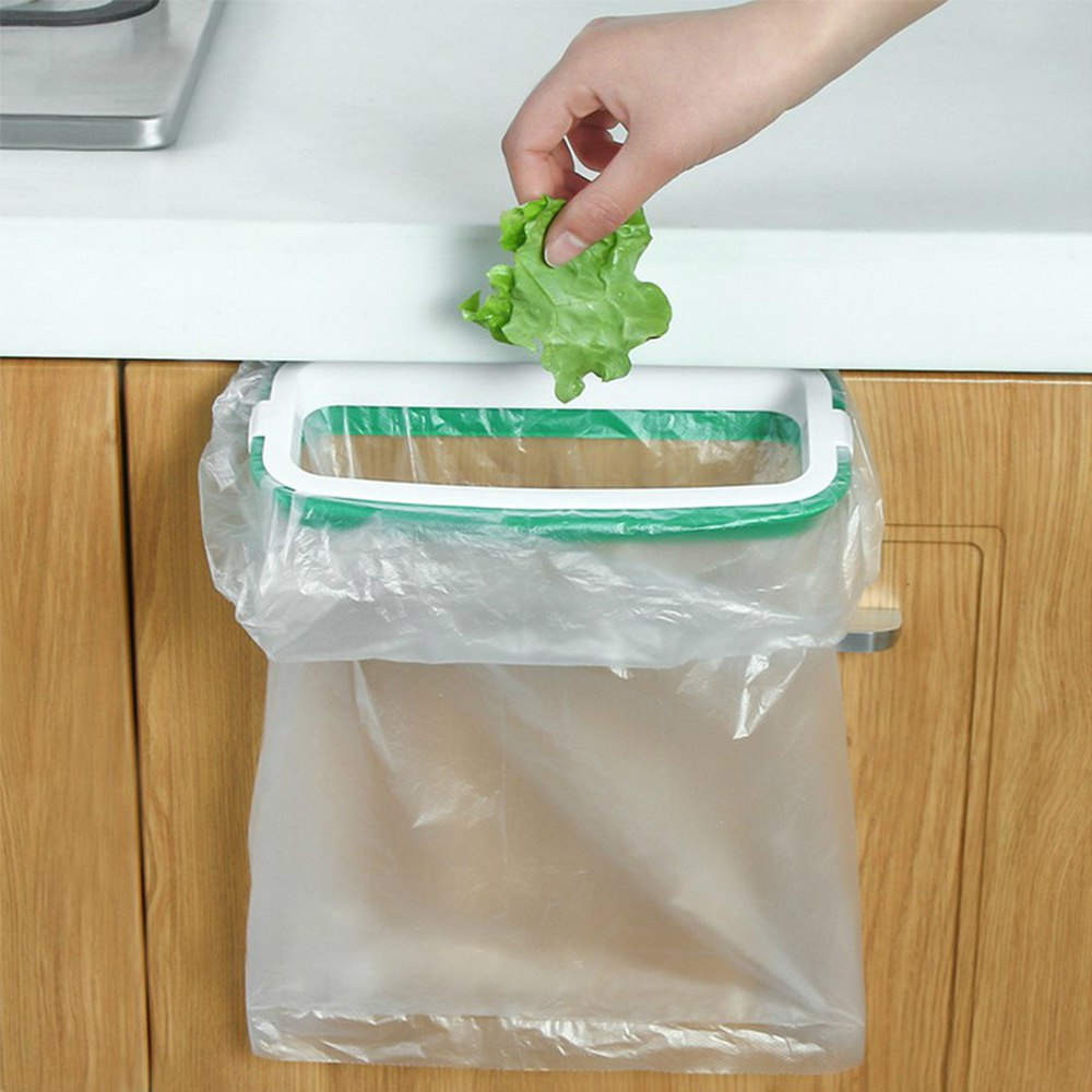Upgraded Version Kitchen Trash Storage Hanger Garbage Bag Holder Plastic Bracket Stand Rack Kitchen Accessories Kitchen Gadgets
