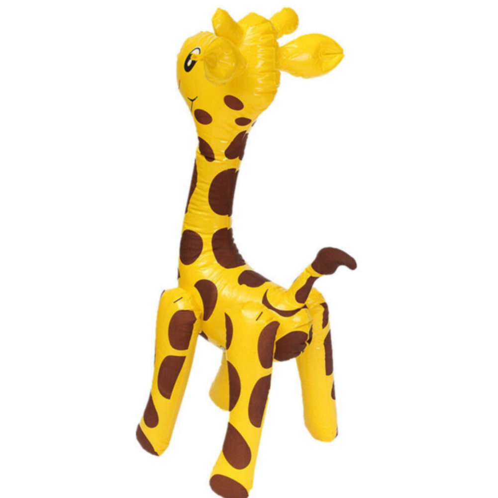 Party Cute Novelty Children PVC Gift Large Animals Balloon Blow Up Cartoon Inflatable Toy Deer Shaped Giraffe Design