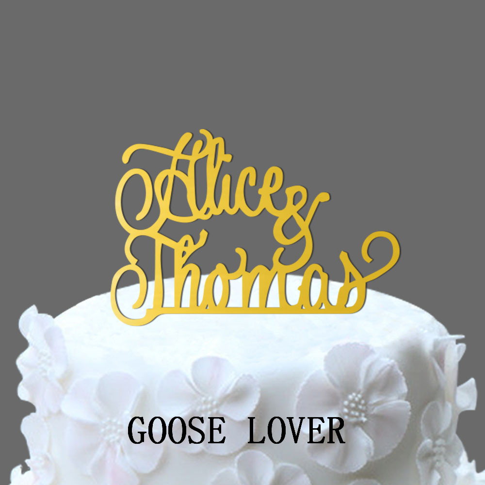 Monogram Wedding Cake Topper Initial Cake Topper, Acrylic Cake ...