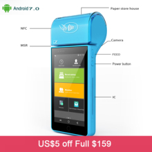 Rugline RP8050B 5 Inch Touch Screen Handheld 4G Andoid Mini Pos Machine with Bluetooth Wifi Thermal