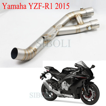 YZF R1 Motorcycle Stainless Steel Middle Pipe Motorbike Connect Link Exhaust Without Muffler For YAMAHA YZF-R1 2015 Years