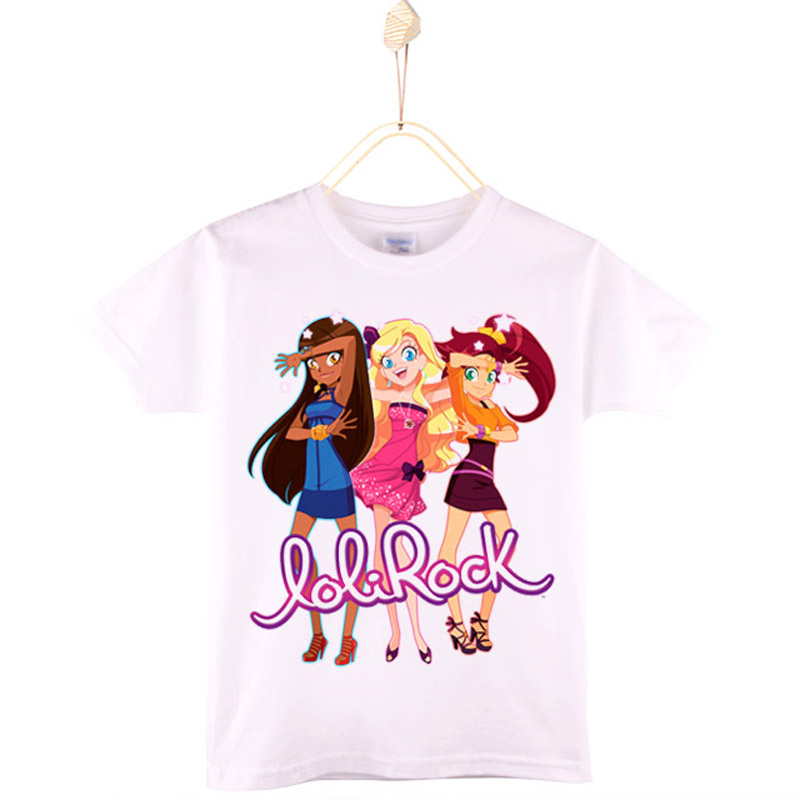 2017 New Fashion Children Clothing Kids T-shirts Cartoon 100% Cotton LoliRock Magical Girl T Shirt Baby Tops Tee Free Shipping коробчатый усиленный уровень 120см зубр ус 5 34585 120