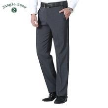 JUNGLE ZONE Men s pants Summer Business men formal suit pants wedding bridegroom trousers menclothing suit