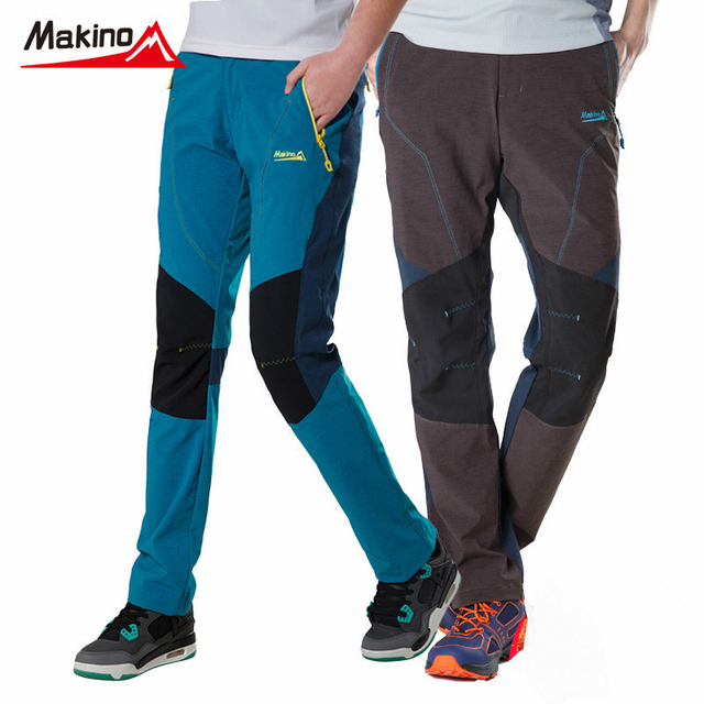 Makino 2017 Весна Лето Открытый Брюки Любителей Быстрой Сушки Брюки для Мужчин и Женщин Спорта Легкая Дышащая Походы Брюки