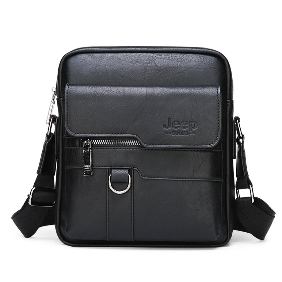 JEEP BULUO Luxury Brand Men Messenger Bags Crossbody Business Casual Handbag Male Spliter Leather Shoulder Bag Large Capacity