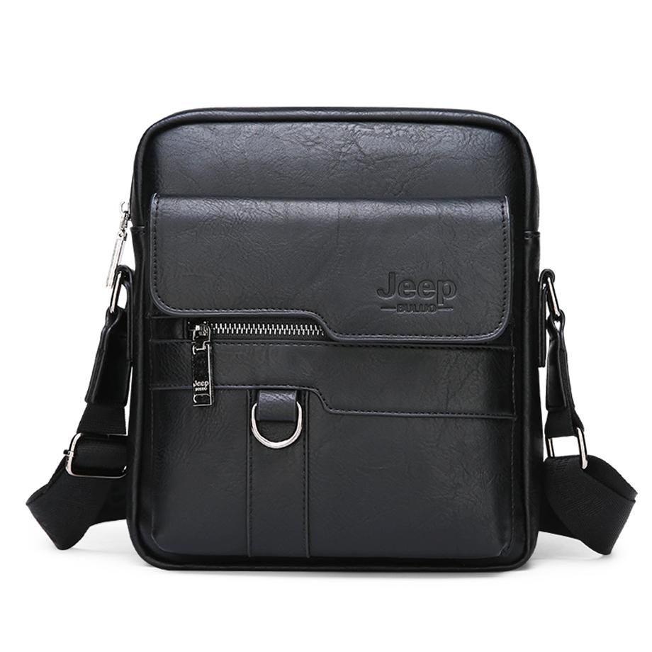 JEEP BULUO Luxury Brand Men Messenger Bags Crossbody Business Casual Handbag Male Spliter Leather Shoulder Bag Large Capacity 4
