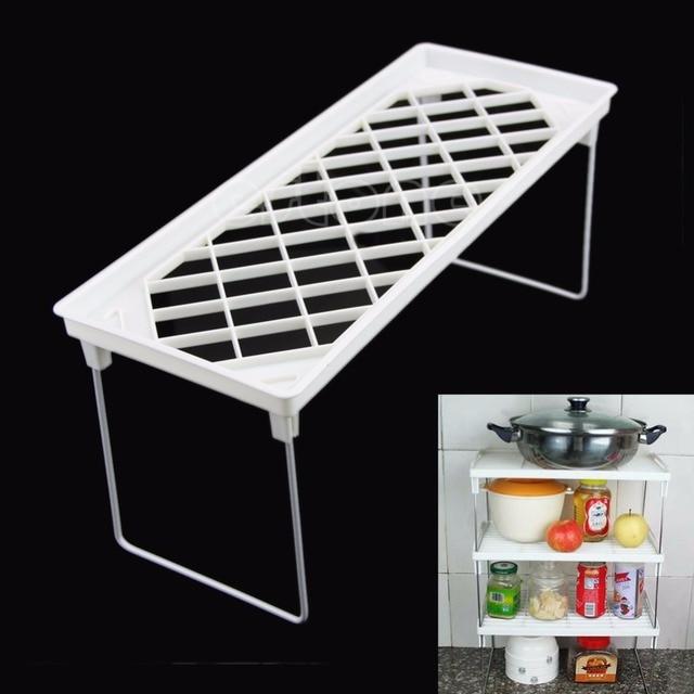 1 Tier Folding Storage Organizer Stack Shelf Rack/Kitchen Bathroom Tall Cabinet & 1 Tier Folding Storage Organizer Stack Shelf Rack/Kitchen Bathroom ...