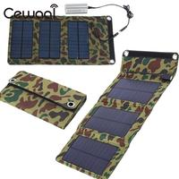 Cewaal Portable 5 5V 5W USB Foldable Rechargeable Solar Panel Outdoor Battery Charger Charging Module