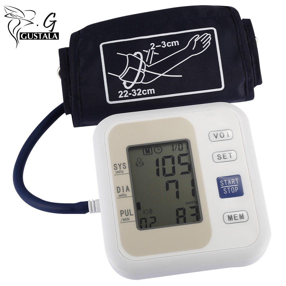 Gustala Upper Arm Electronic Blood Pressure Monitor Digital Arm Sphymomanometer Meters Arm Blood Pressure Pulse Health Care brandfully automatic intelligent blood pressure monitor digital arm sphymomanometer electronic blood pressure meter for home use