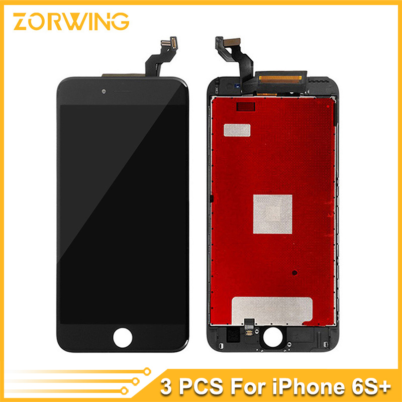 3PCS Wholesale Grade AAA Quality LCD Display For iPhone 6S Plus Touch Screen Digitizer Assembly in White and Black 3pcs lot quality aaa lcd display for iphone 6s plus lcd screen lg brand digitizer touch assembly lifetime warranty dhl free ship